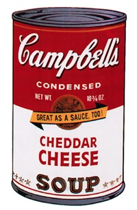 campbell's soup ii: cheddar cheese, [ii.63] by andy warhol